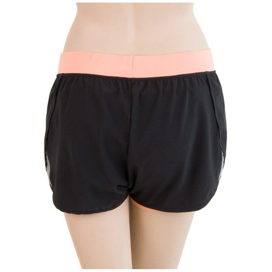 Černo-oranžové dámské běžecké kraťasy Sensor - velikost XL
