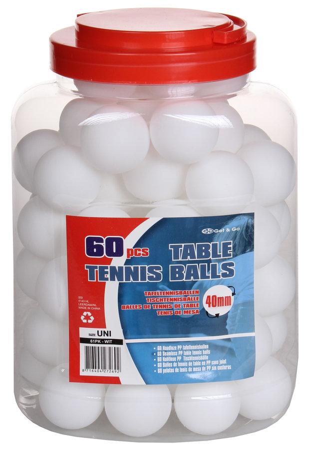 Bílý míček na stolní tenis Get & Go - 60 ks