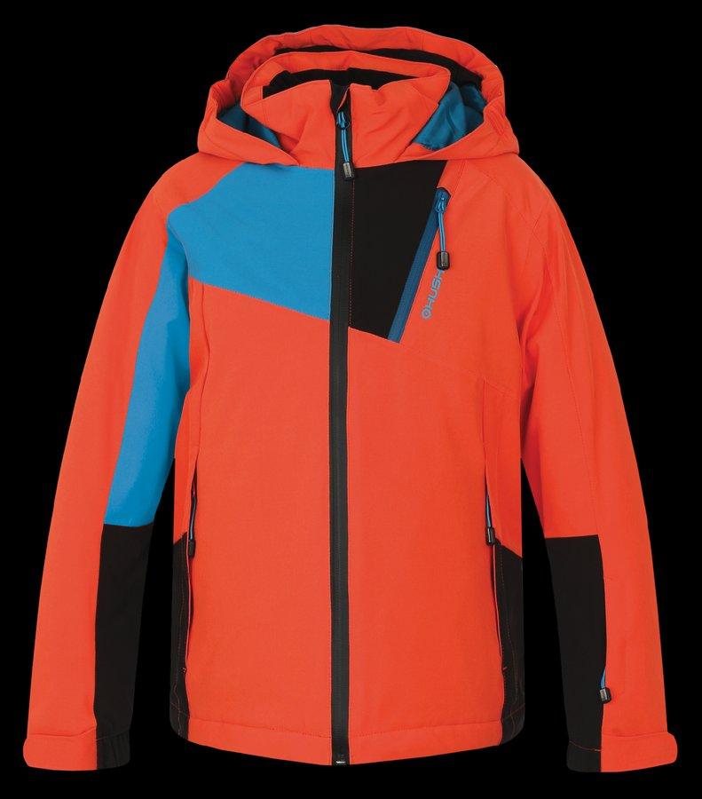 Oranžová dětská dívčí nebo chlapecká bunda Husky - velikost 122