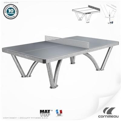 Šedý venkovní stůl na stolní tenis PRO Park, Cornilleau