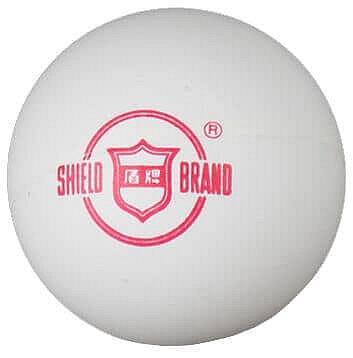 Bílý míček na stolní tenis Shield - 6 ks