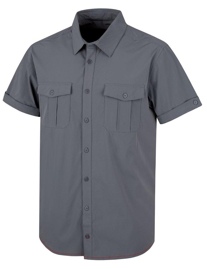 Šedá pánská košile s krátkým rukávem Husky