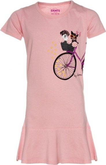 Růžové dívčí šaty Sam 73 - velikost 152-158