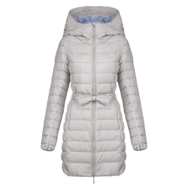 Bílý zimní dámský kabát Loap