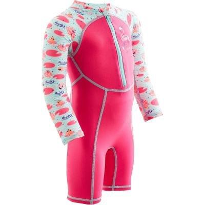 Růžový dívčí neoprenový short Nabaiji - velikost 80