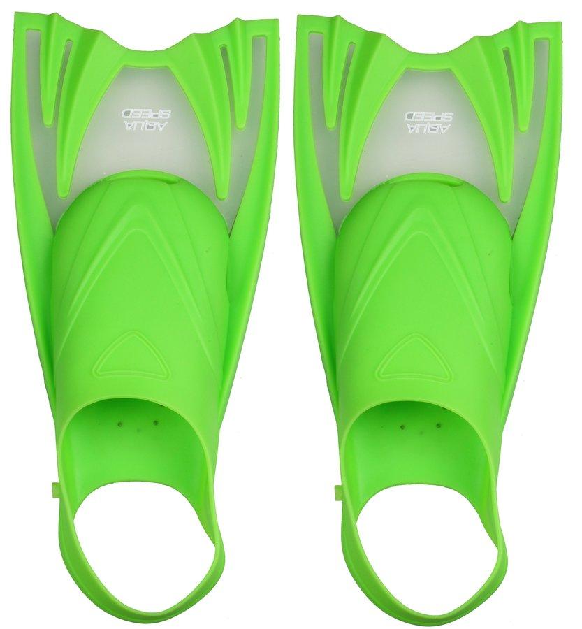 Zelené potápěčské krátké ploutve POWER JET, Aqua-Speed - velikost 25-29 EU