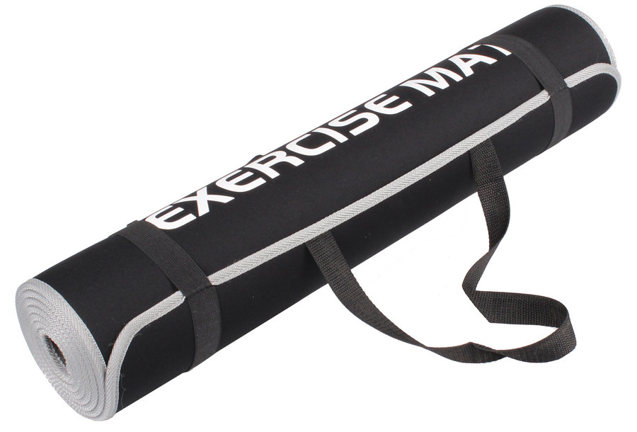 Černá podložka na cvičení LiveUp - tloušťka 0,6 cm