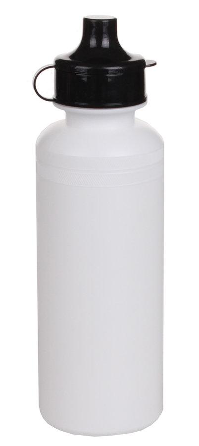 Bílá sportovní láhev na pití LiveUp - objem 0,5 l