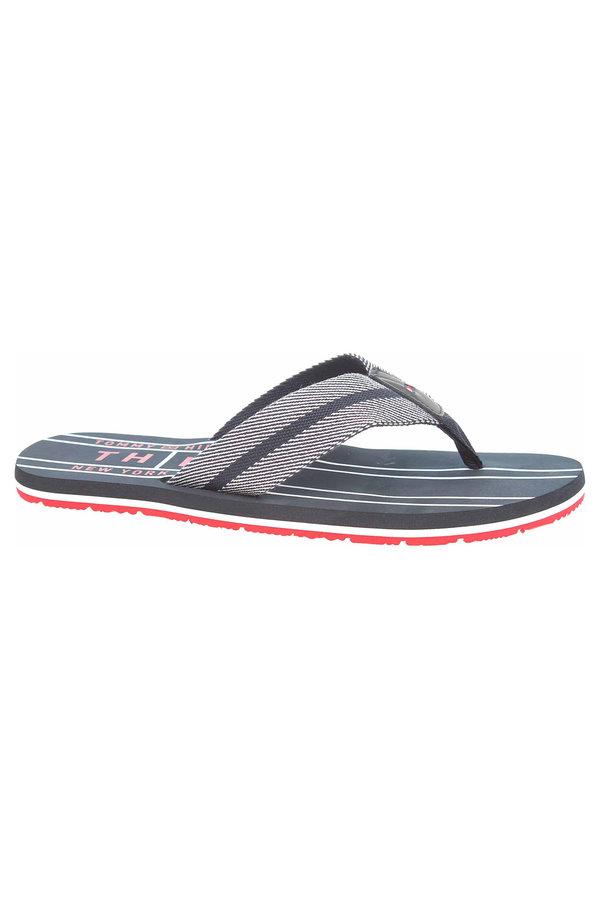 Modré pánské pantofle Tommy Hilfiger