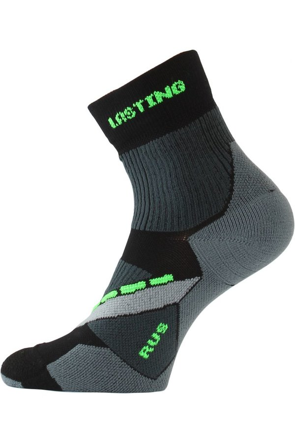 Černé pánské běžecké ponožky Lasting - velikost 38-41 EU