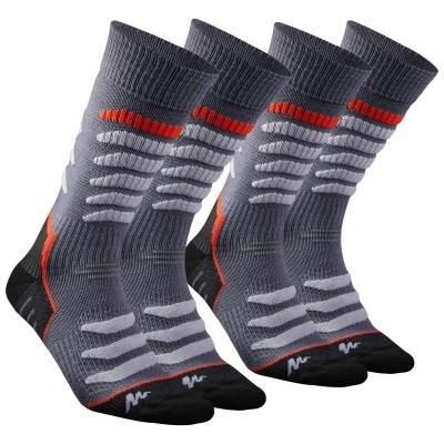 Šedé vysoké unisex ponožky Quechua - velikost 43-46 EU