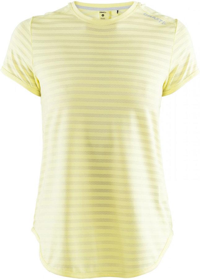 Žluté dámské funkční tričko s krátkým rukávem Craft