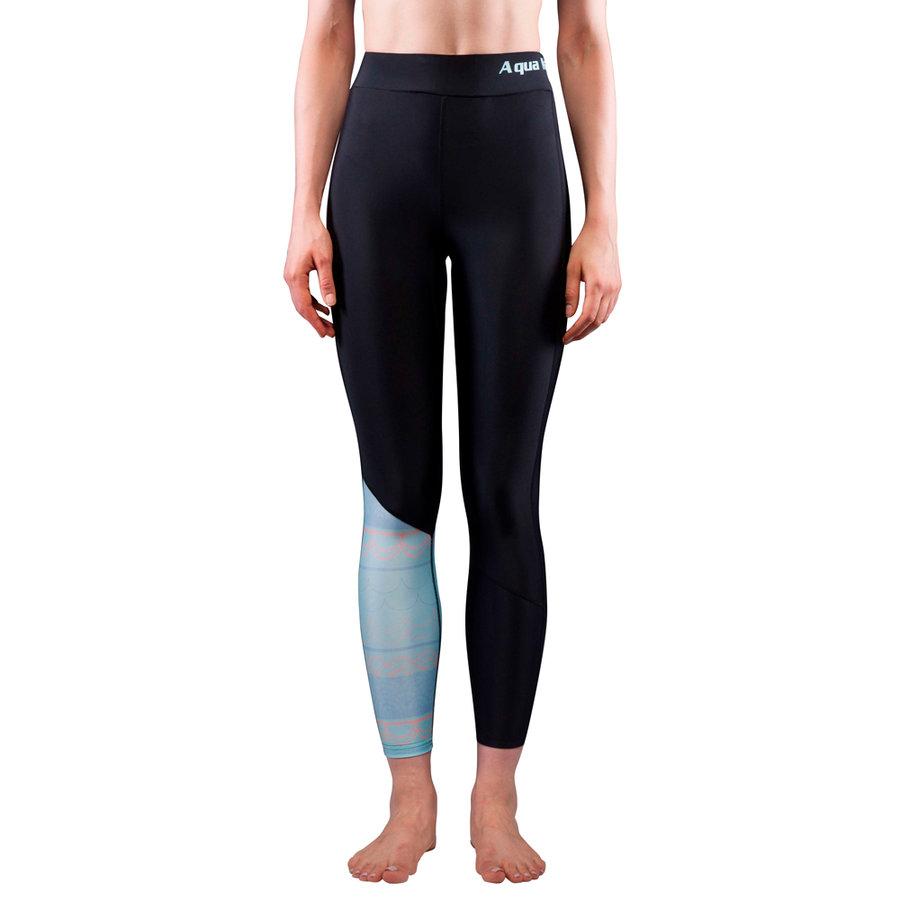 Modré dámské lycrové kalhoty Illusion, Aqua Marina - velikost S