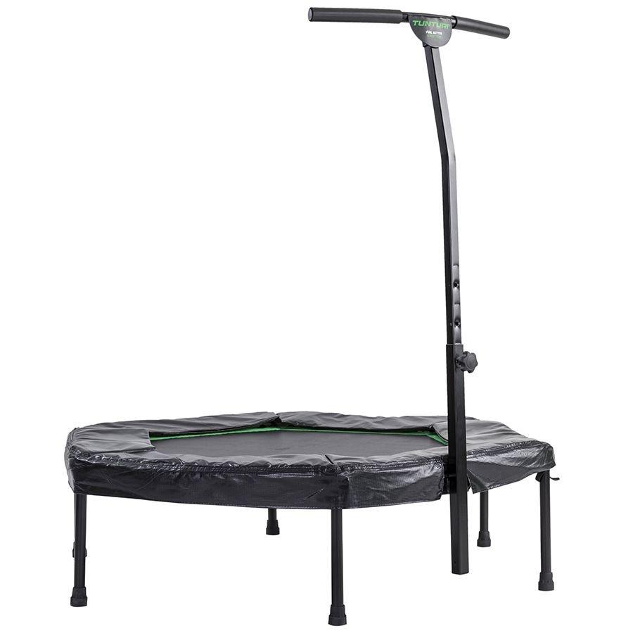 Šestiúhelníkový fitness trampolína s madlem Tunturi - průměr 135 cm