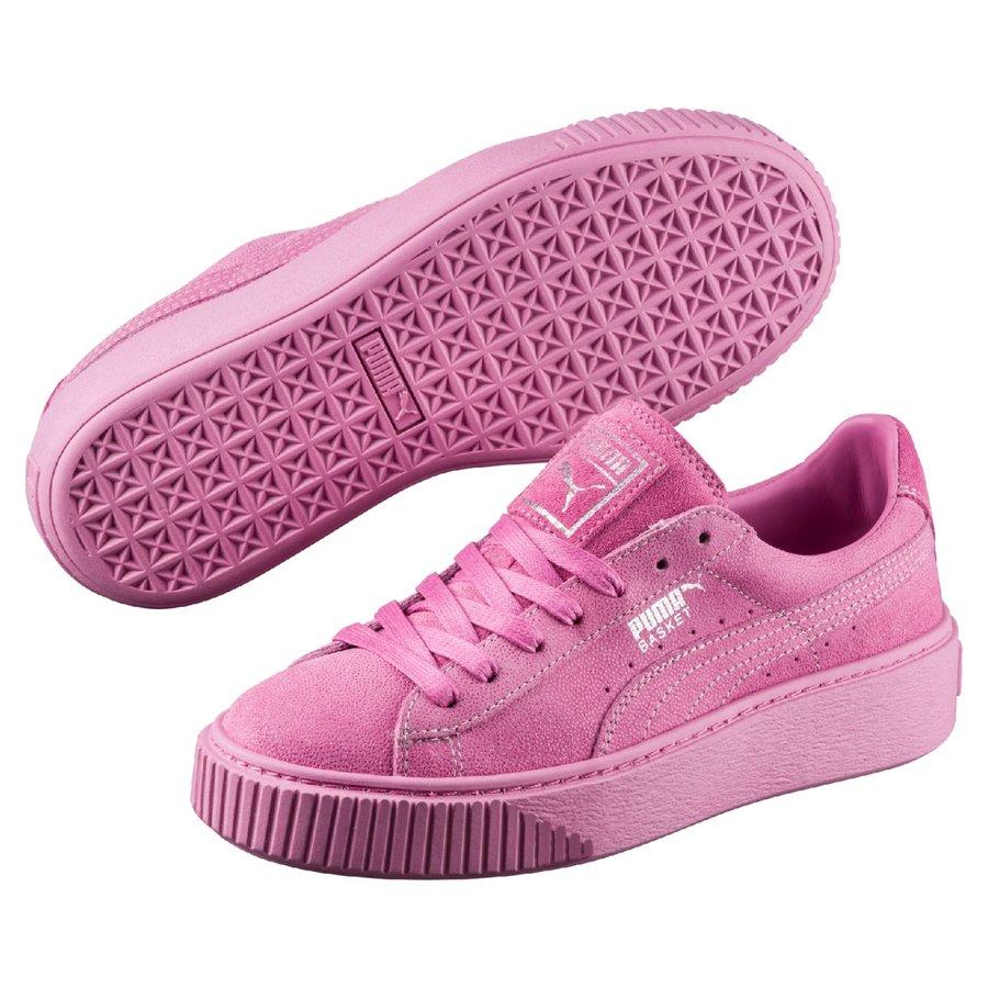 Růžové dámské tenisky Basket, Puma