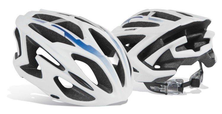 Bílo-černá unisex cyklistická helma Powerslide