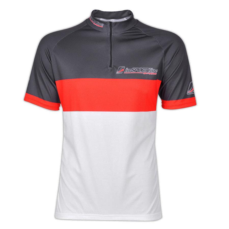 Bílo-černý pánský nebo dámský cyklistický dres inSPORTline