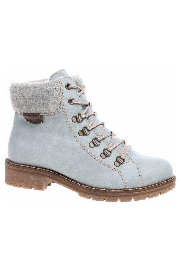 Modré dámské kotníkové boty Rieker - velikost 37 EU