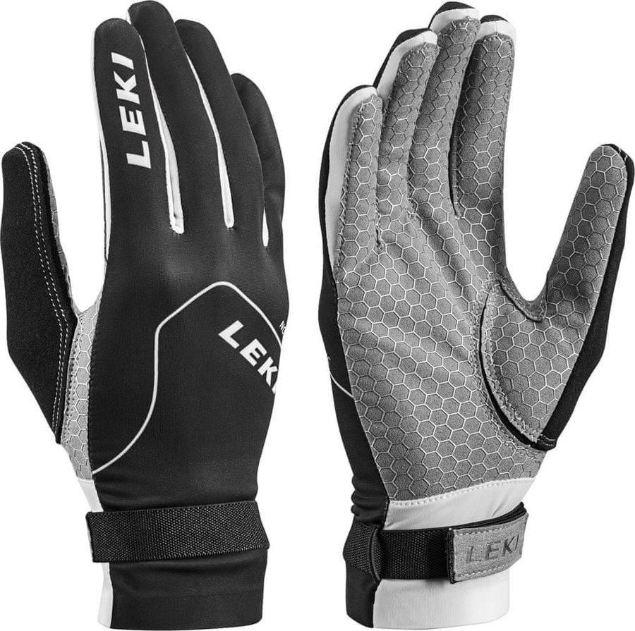 Černé pánské rukavice na běžky Leki - velikost 10