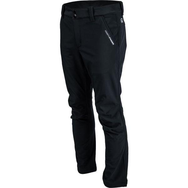 Černé softshellové pánské kalhoty NorthFinder