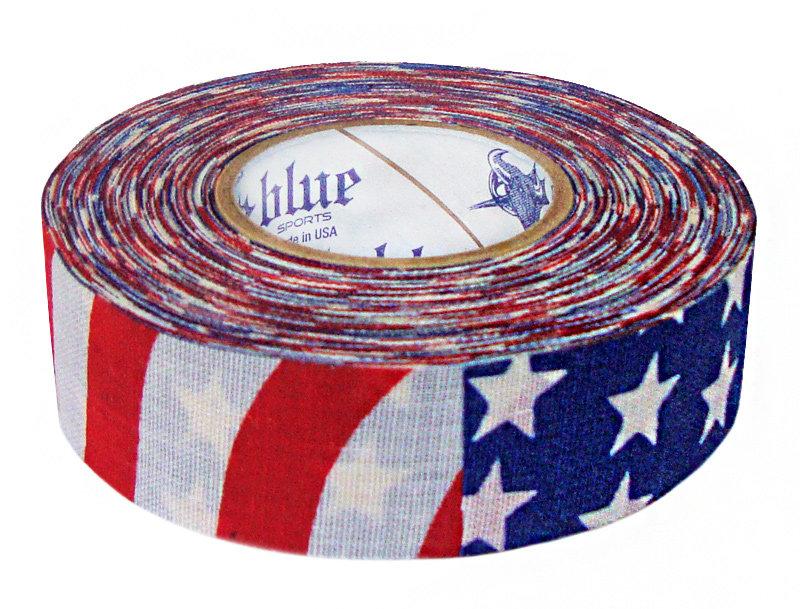 Hokejová páska - Izolace na hokejky Blue Sports USA 18 m x 24 mm Barva: USA