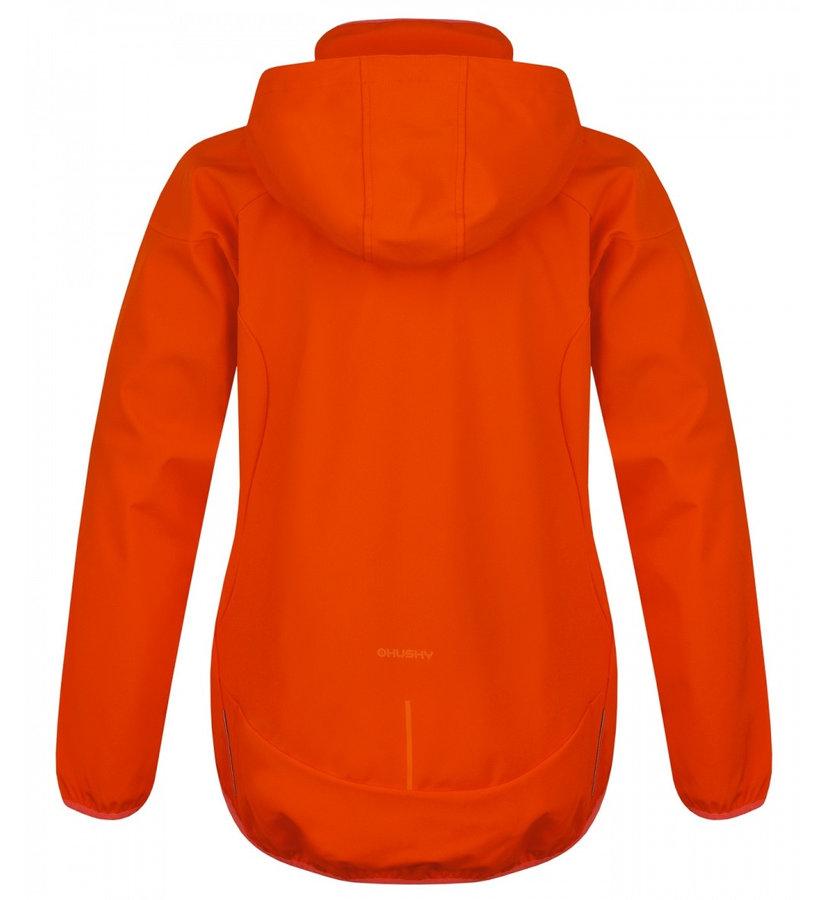 Oranžová softshellová dámská bunda Husky - velikost L