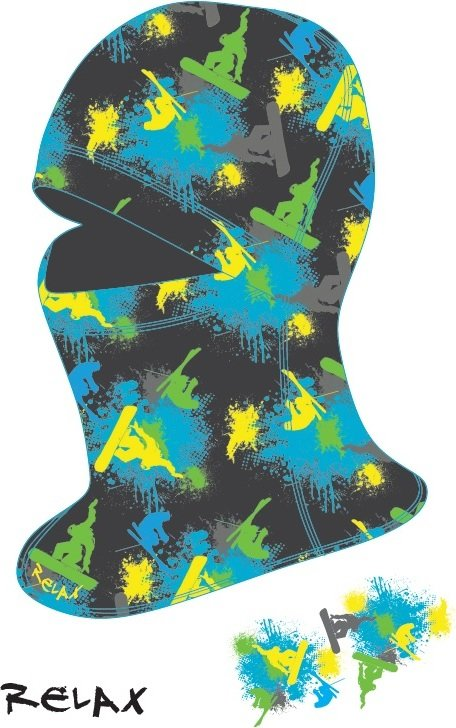 Černo-modrá dětská lyžařská kukla Relax - velikost M