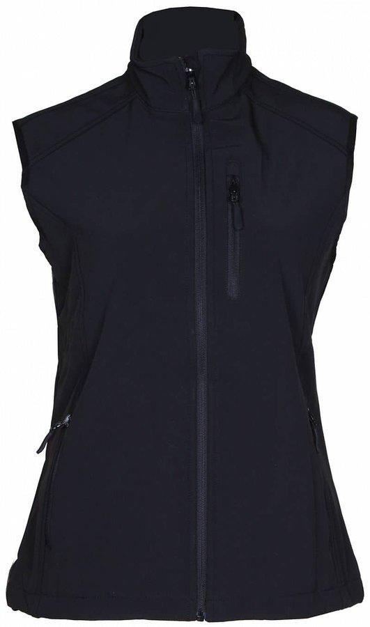 Černá softshellová dámská vesta Lambeste - velikost S