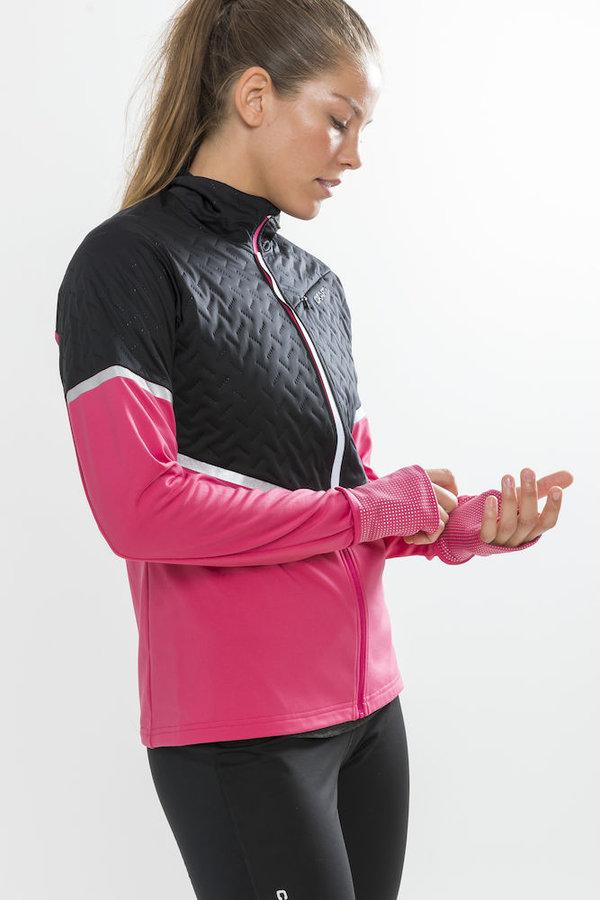 Černo-růžová dámská běžecká bunda Urban Thermal Wind, Craft - velikost S