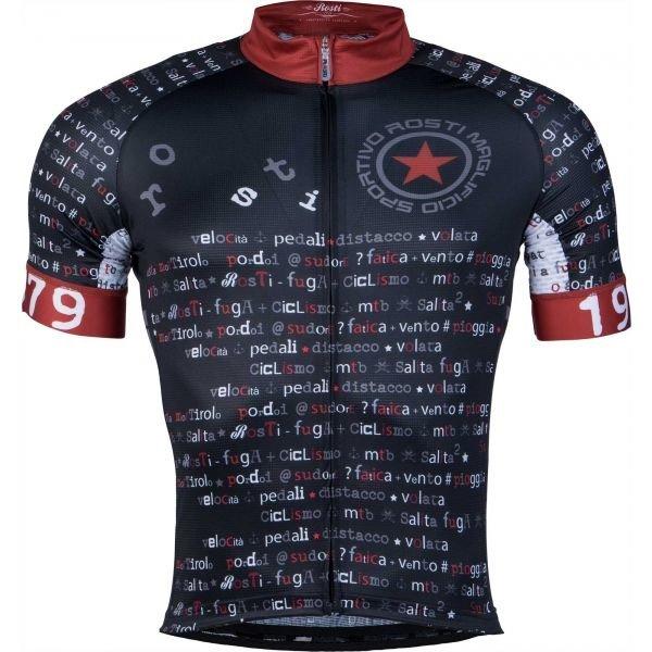 Černo-červený pánský cyklistický dres Rosti