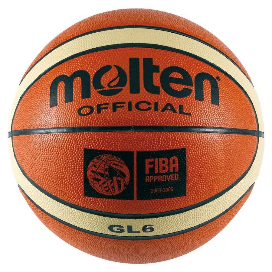 Oranžový basketbalový míč BGL6, Molten - velikost 6