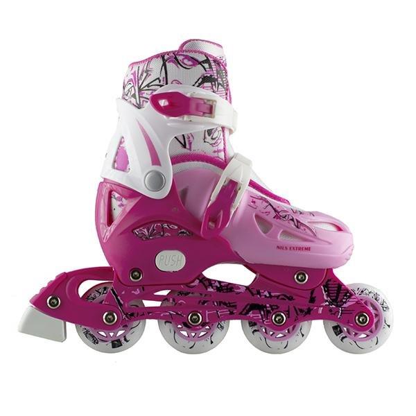 Růžové dětské kolečkové brusle Nils Extreme - velikost 35-38 EU
