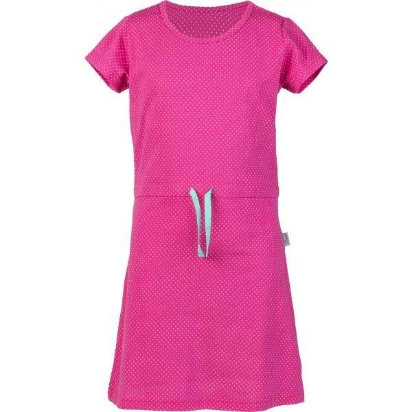 Růžové dívčí šaty Lewro