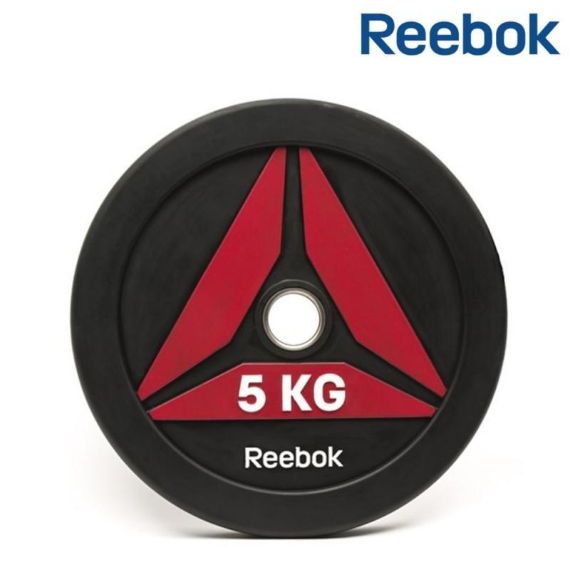 Kotouč na činky - REEBOK kotouč Bumper pogumovaný 5 kg, otvor 50 mm