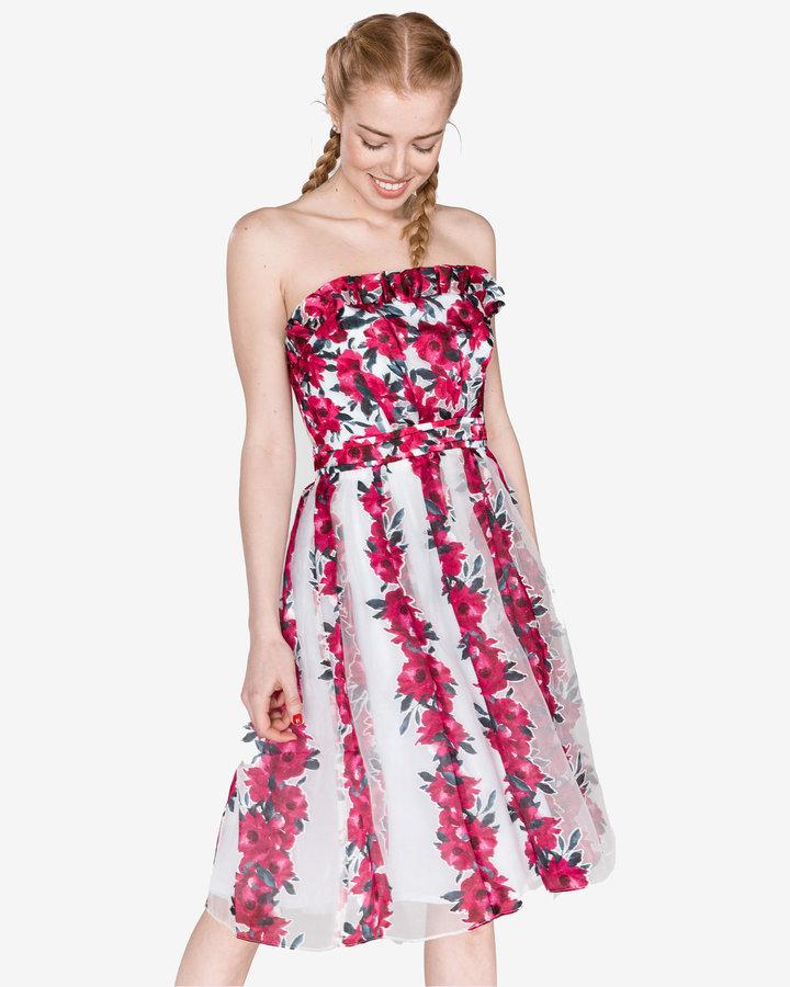 Bílo-růžové dámské šaty French Connection