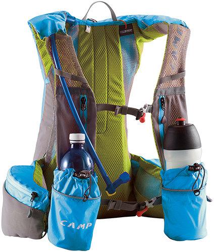 Modro-šedý pánský nebo dámský batoh Ultra Trail Vest, Camp - objem 12 l