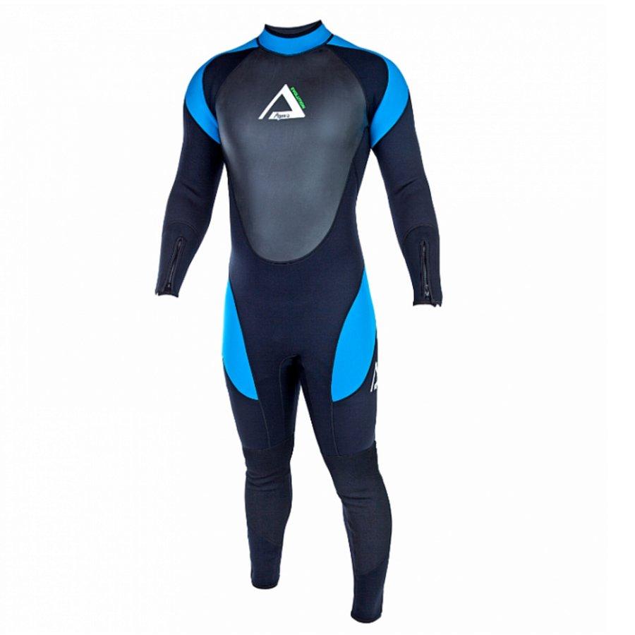 Černo-modrý dlouhý pánský neoprenový oblek EVOLUTION Superstretch, Agama