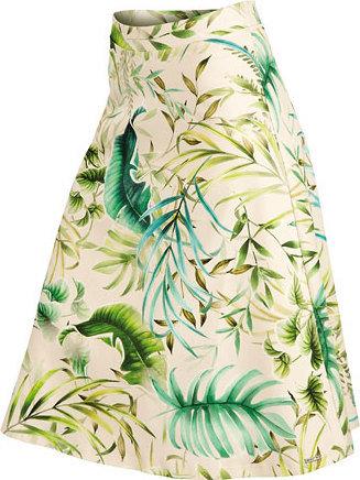 Bílo-zelená dámská sukně Litex