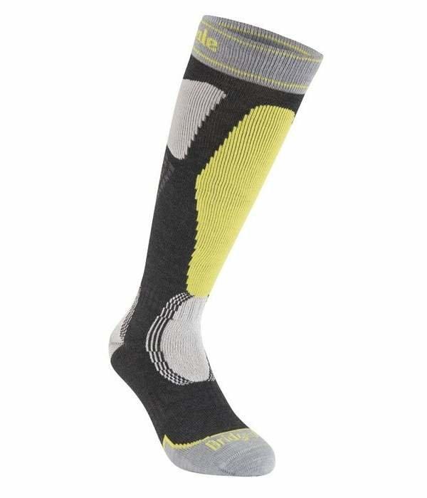 Šedo-žluté pánské lyžařské ponožky Bridgedale
