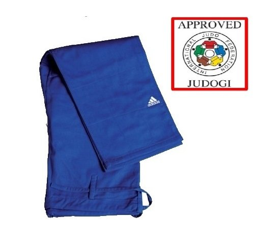 Modré kalhoty na judo Adidas