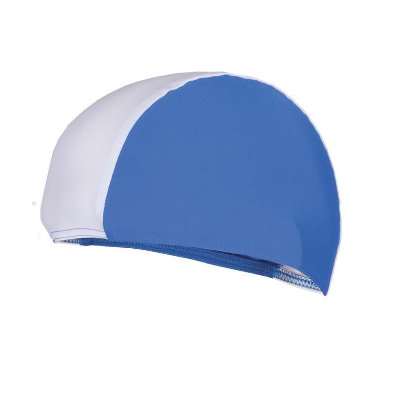 Bílo-modrá pánská nebo dámská plavecká čepice LYCRAS, Spokey