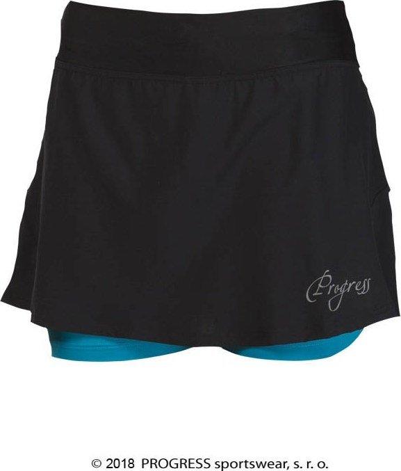 Černá dámská běžecká sukně Progress - velikost M