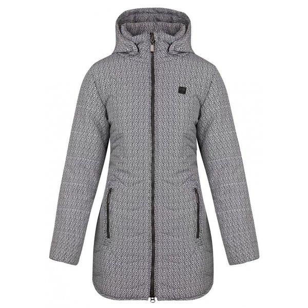 Šedý zimní dámský kabát Loap
