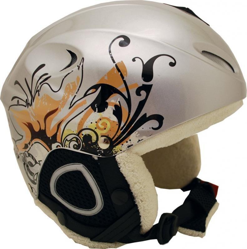 Stříbrná lyžařská helma Sulov - velikost 54-55 cm