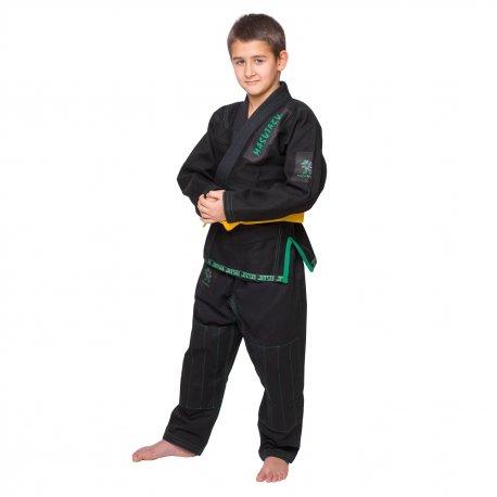 Černé kimono na jiu-jitsu MASUTAZU - velikost M3