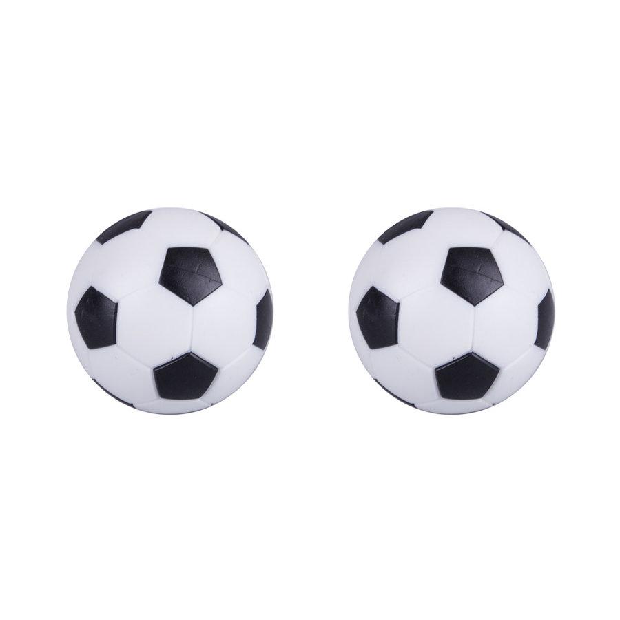 Bílo-černý plastový míček na stolní fotbal Worker - průměr 32 mm - 2 ks
