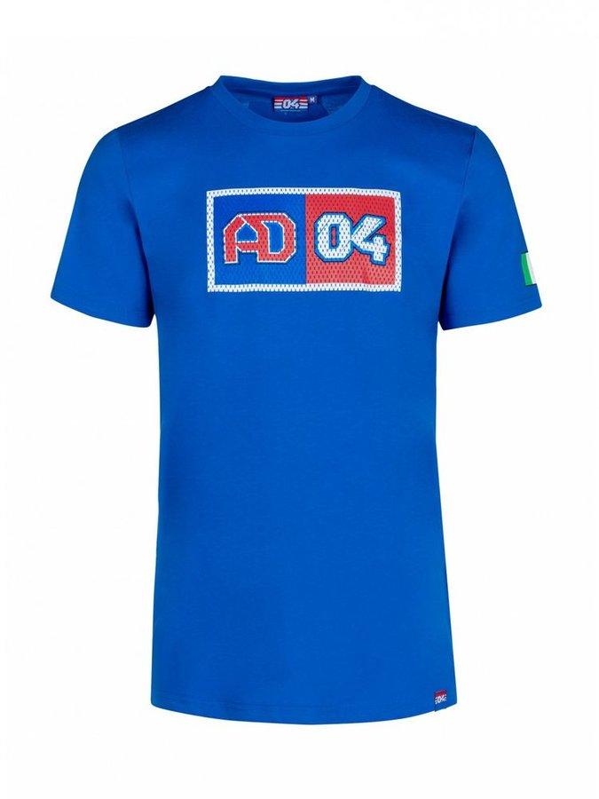 Modré pánské motorkářské tričko s krátkým rukávem Dovizioso