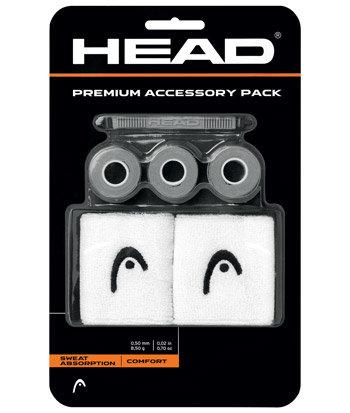 Tenisová sada - Sada doplňků Head Premium Accessory Pack Grey