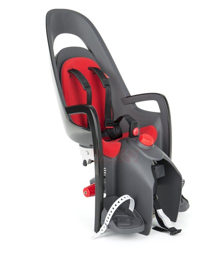 Bílo-černá dětská sedačka na kolo zadní umístění Hamax - nosnost 22 kg