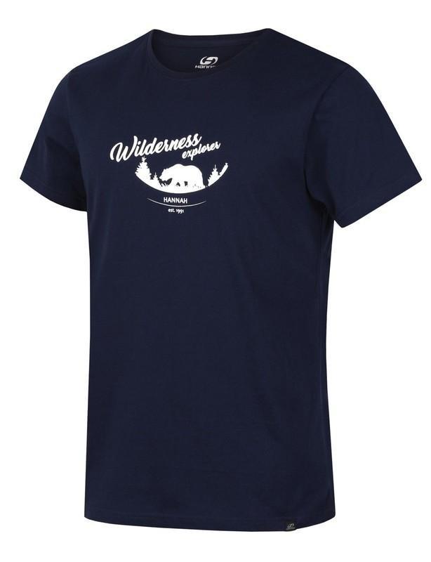 Modré pánské tričko s krátkým rukávem Hannah - velikost 3XL